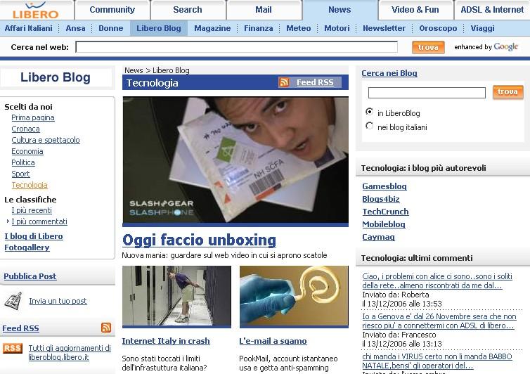 www.dariosalvelli.com Libero Blog