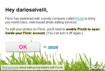 Picnik in Flickr