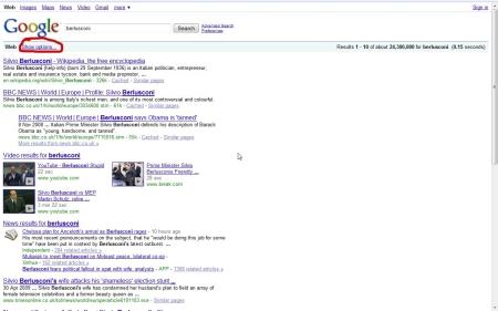 show-options-on-google