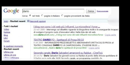 real time search google dario example
