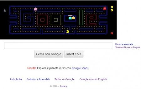 google logo pacman
