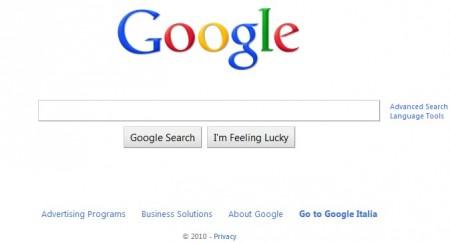 google new homepage logo 2010