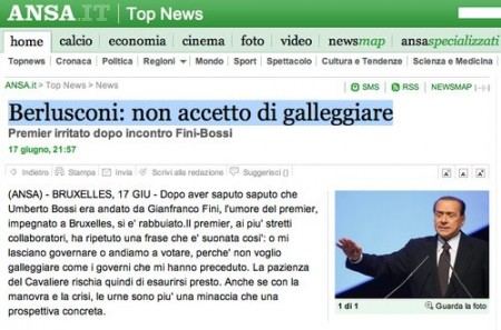 galleggiare berlusconi